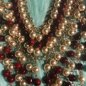 Jewelry - 💜NEW Burgundy Pearl Necklace♥️♥️